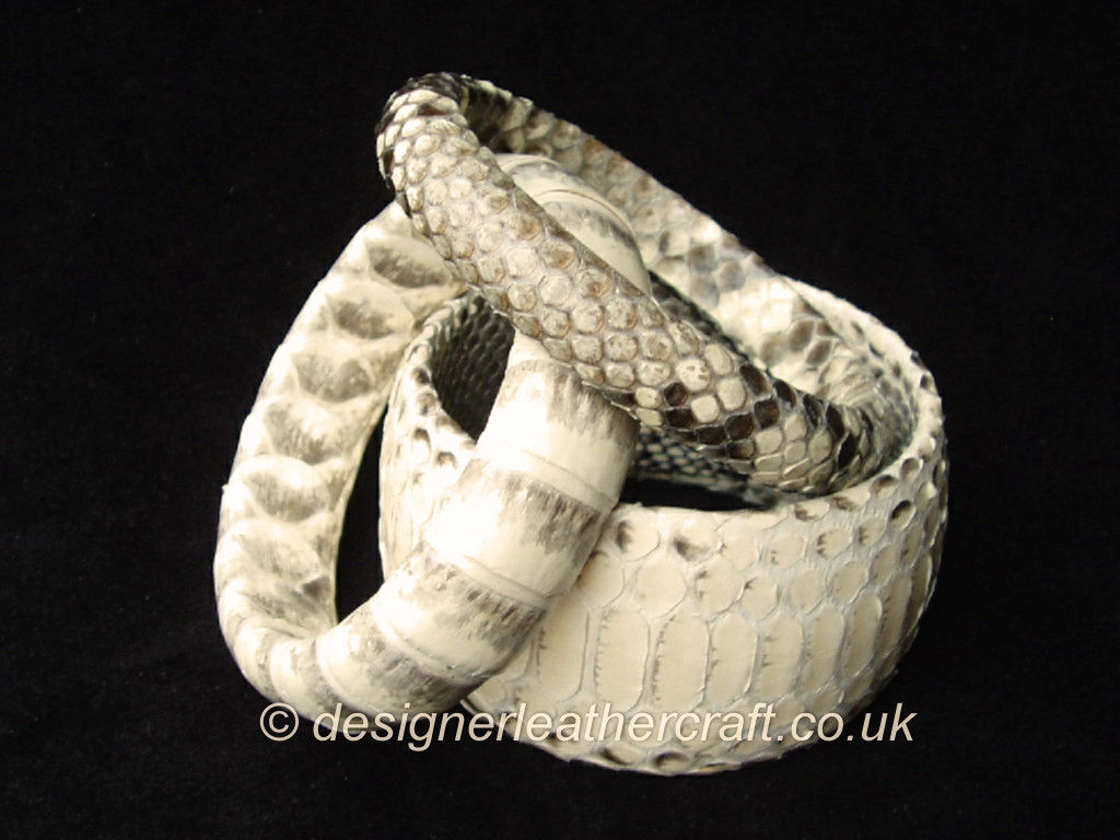 Python Snakeskin Bangle Stack