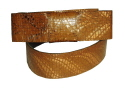 Suede leather and snakeskin belts
