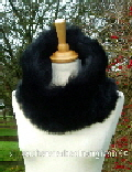 Black Toscana Shearling Snood