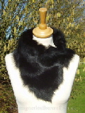 Black Toscana Shearling Tippet n Fastens with Magnets
