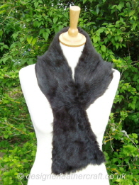 43 inch Brown Shortwool Shearling Scarf