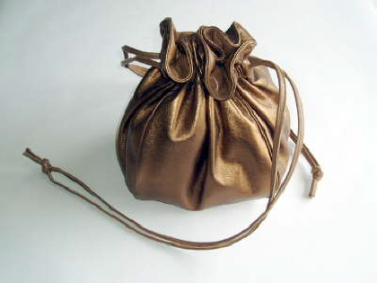 Bronze Brown Leather Bag