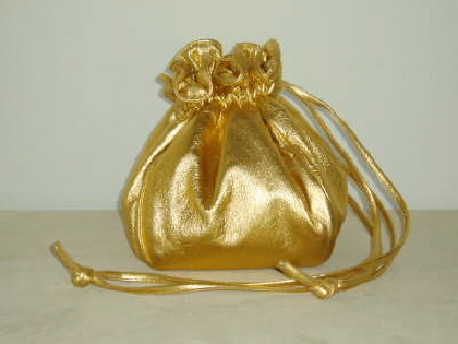 Gold Metalic Leather Bag