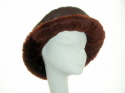 Wine nappa sheepskin hat  with wide brim �45