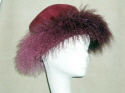 Great sheepskin hats for apres ski or a winter wedding.