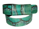 Individual Hand Made Painted Python Snakeskin Belts.